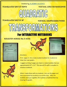 Quadratic Functions: Transformations Flippable