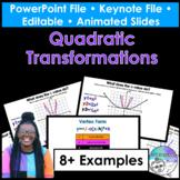 Quadratic Transformations PowerPoint/Keynote Presentations