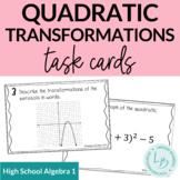 Quadratic Transformations Task Cards