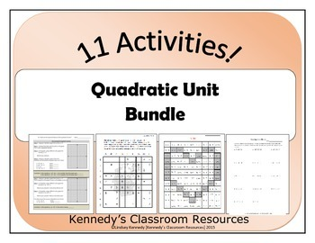 Quadratic Unit - Bundle of Resources!