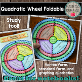 Quadratic Wheel Foldable (Vertex form, standard form, and graphing)