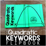 Quadratic Word Problem Keywords Flipbook