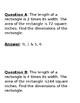 Quadratic Word Problem Scavenger Hunt