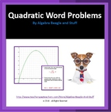Quadratic Word Problems Scaffold Notes