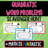 Quadratic Word Problems Scavenger Hunt