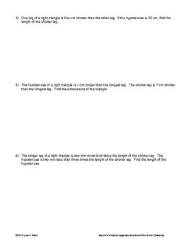 Word Problems: Quadratics involving Pythagorean Theorem