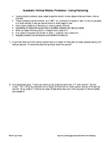 Word Problems: Quadratics involving Vertical Motion - Factoring