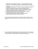 Word Problems: Quadratics involving Vertical Motion - Quadratic Formula