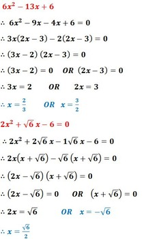 Quadratic equation Part-1