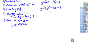 Quadratic equation in Vertex form by Completing the Square