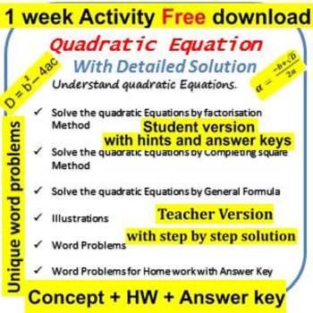 Quadratic equation word problems
