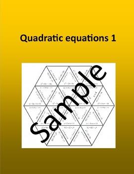 Quadratic equations 1 – Math puzzle