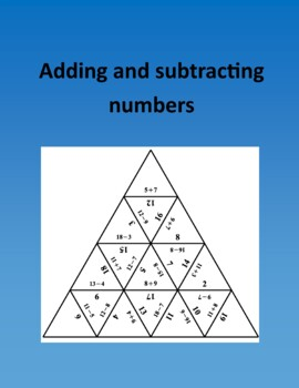Adding and subtracting numbers – Math puzzle