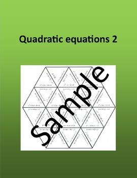 Quadratic equations 2 - Math puzzle