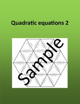 Quadratic equations 2 - Math puzzle