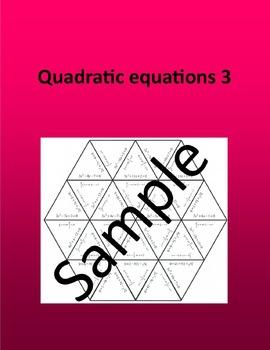 Quadratic equations 3 – Math puzzle