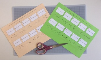 Quadratic equations: Solve, show and stick review boxes