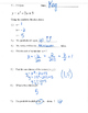 Quadratic function equation standard form graphic organizer
