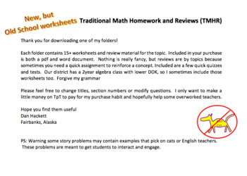 Quadratic worksheets and reviews - over 20 traditional homework and quizzes