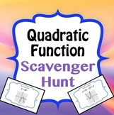 Quadratic/Parabola Function Graph Scavenger Hunt