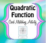 Quadratic/Parabola Function Graph Trasformation - Card Mat