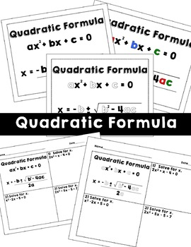 Quadratics Posters and Reference Sheet - BUNDLE