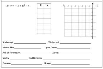Graphing Quadratics Mini Unit