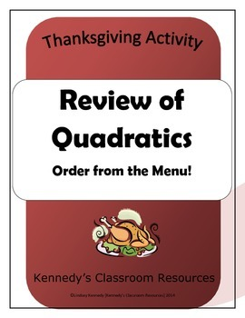 Quadratics Cafe: A Review of Quadratic Functions
