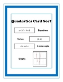 Quadratics Card Sort