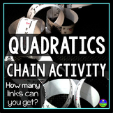 Solving Quadratic Equations Chain Activity
