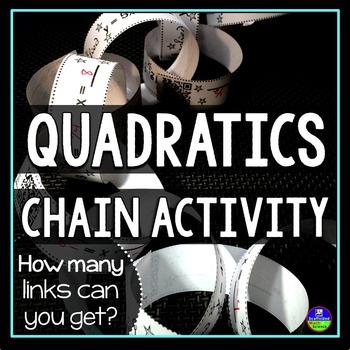 Solving Quadratic Equations Chain Activity