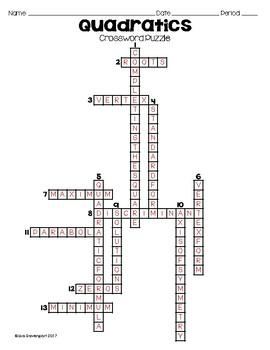 Quadratics (Crossword Puzzle)
