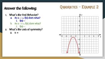Quadratics: End Behavior, Vertex, Increasing & Decreasing Intervals