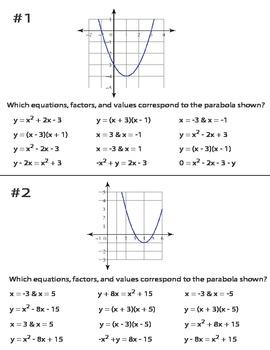 Quadratics, Factors, Expressions, and Parabolas
