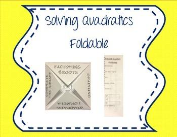 Quadratics Foldable - 4 corners