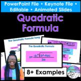 Quadratics Formula PowerPoint/Keynote Presentation