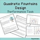 Quadratics Fountain Design Performance Task