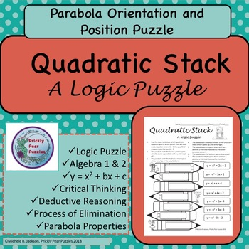 Quadratics ,  Parabola Puzzle, Critical Thinking, Logic Puzzle