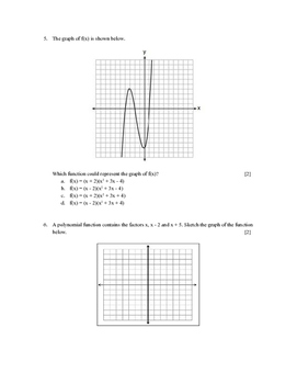 Quadratics Functions Test