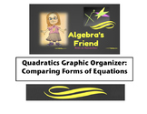 Quadratics Graphic Organizer: Comparing Forms of Equations