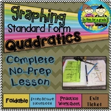 Graphing Quadratics- Standard Form foldable, INB, Practice, & Exit Ticket