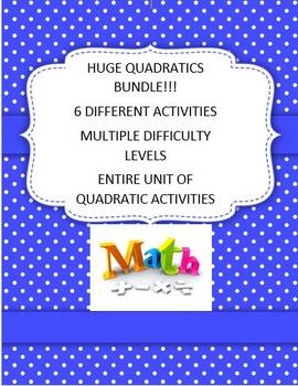 Quadratics Huge Bundle Algebra Math 1 2 3