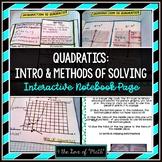 Quadratics Interactive Notebook Pages