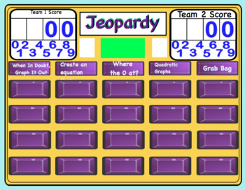 Quadratics Jeopardy