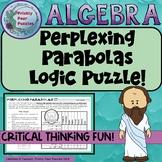 Quadratics, Logic Puzzle, Perplexing Parabolas, Algebra 1,