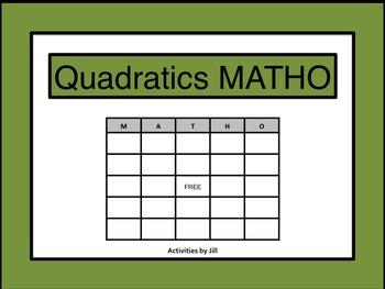 Quadratics MATHO