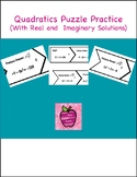 Quadratics Puzzle Practice Activity With Real and Imaginar