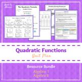 Quadratics Resource Bundle (PBL PrBL Explorations + Projects)