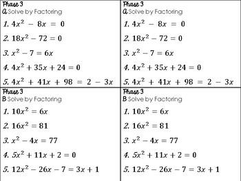 Quadratics Review