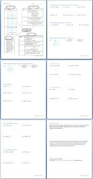 Quadratics Review Packet